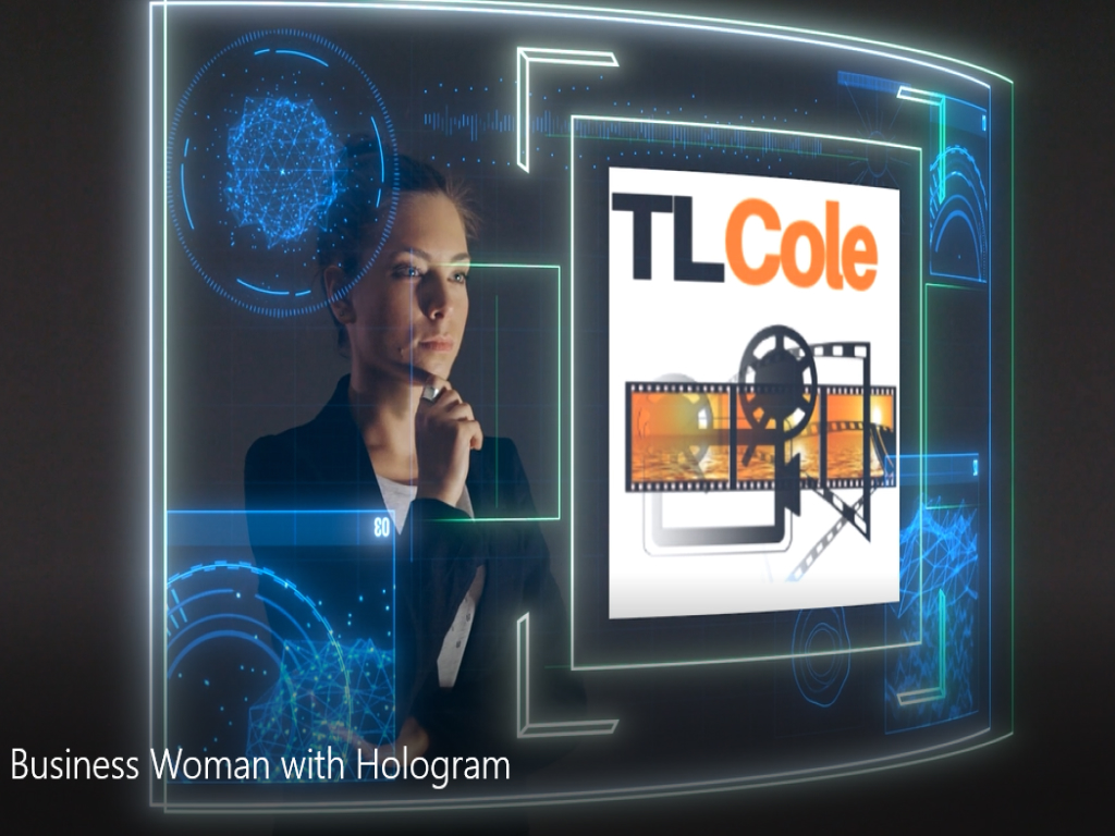 Business Woman With A Hologram