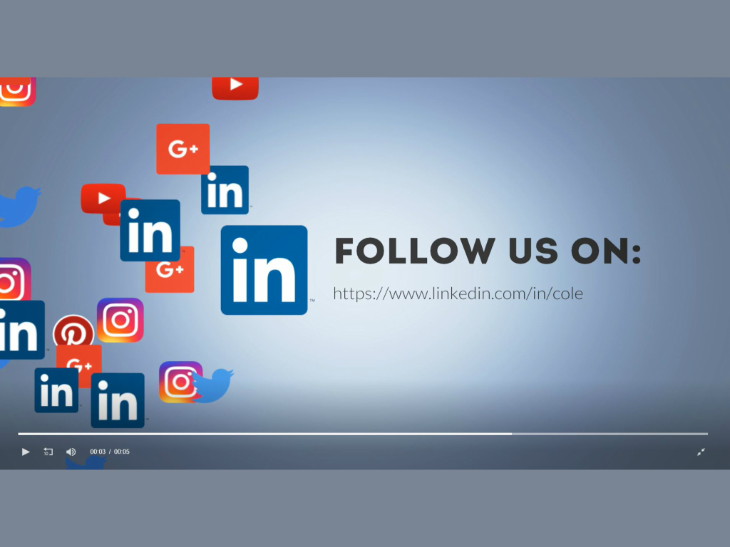 Social Floating Icon - Linkedin